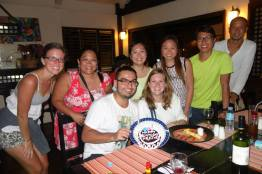 Our group at dinner!