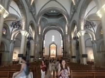 Me in a church in Intramuros. It was old and kinda fancy from the outside, but kinda plain inside. I guess Spain took all the good church building materials back to the motherland. Jerks.