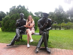 Me, with Gen. MacArthur and the President of the Philippines