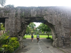 Ray and I entering Fort Santiago