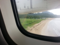 The view as we're landing