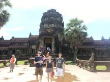 the Page kids at Angkor Watt