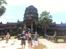 the Page kids at Angkor Watt