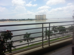 Sometimes in Cambodia I also worked from our balcony