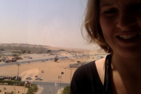 The view from the window beside my desk while working in our hotel in the UAE