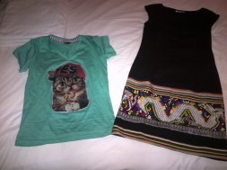 I went shopping! New hilarious tshirt, and new lovely handmade dress