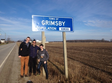 The boys getting back into Grimsby