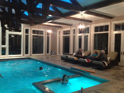 Post-Christmas Day Dinner swimming in my Aunt & Uncle's new pool!