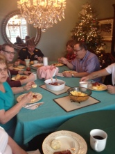 Christmas Day breakfast with the family