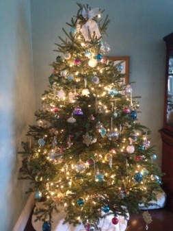 My favourite of our 2 Christmas trees