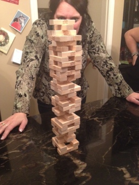Jenga with friends & family