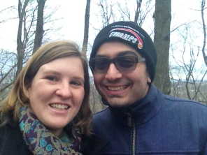 Kevin and I on our Christmas Day nature walk with the family