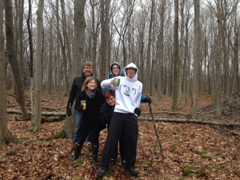 Family photo along the escarpment