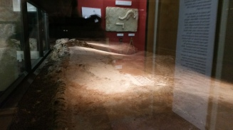 This is a Roman hallway - the floor is warped from the ground shifting over hundreds of years
