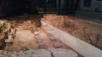 Beneath the baths, this is where the water was warmed