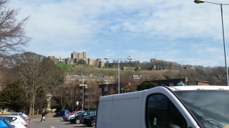 The view of Dover Castle, after we walked to the bus station