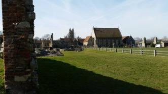 from the knave of the old church, here's what you can see now.