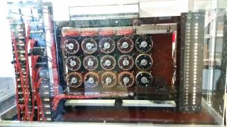 minitiature version of the Bombe machine