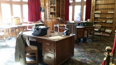 the library at Bletchley Park - they had a really cool book collection here