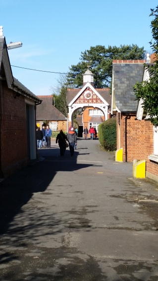 walking to the cottages where researchers lived and worked