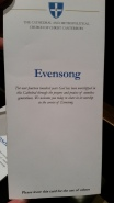 the program from Evensong