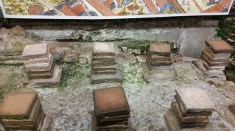 Roman ruins in the Waterstone's bookstore