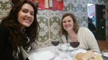 enjoying a traditional Portuguese lunch!