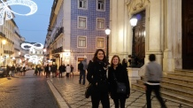 walking the streets of Lisbon
