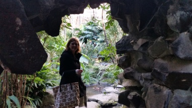 In the grotto at the Estufa Fria