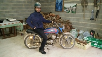 Kevin, on the first motorcycle he learned to ride (it's seen better days)