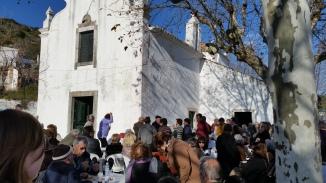 the festa chorica (chorizo festival), in front of the church