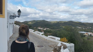 Making a quick stop in Salir to see some castle ruins