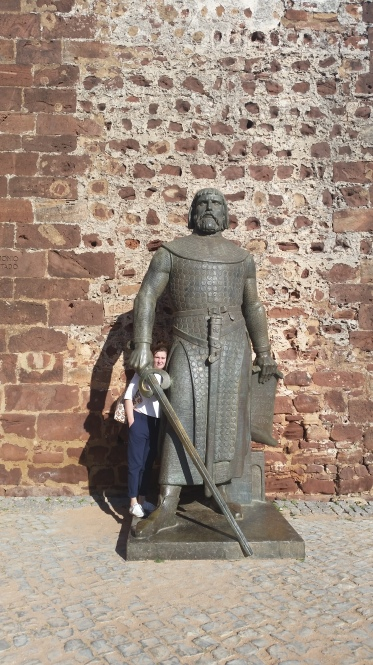 Not sure if the Moorish men were actually this tall, but this is me and a statue outside.