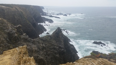 At the Cabo Sordao cliffs!