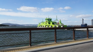 the ferry arriving
