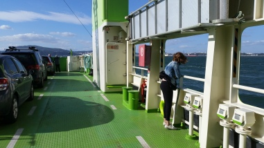 on the ferry!