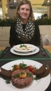 Russian perogies (Vareniki?) and Steak Tartare at Stanislav Avenida. Seriously amazing.