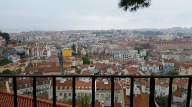 view of Lisbon from above - we took the famous streetcar from one end of the city to the other. This was the final view!