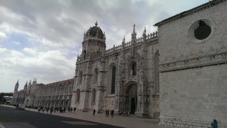 Outside of the Monastery of Jeronimos