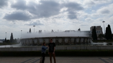siblings in Belem (part of Lisbon, really)