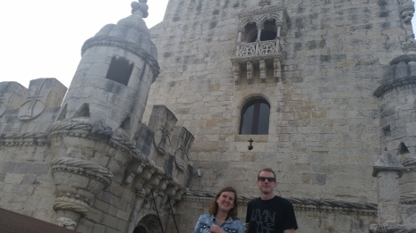 siblings at the Torre de Belem