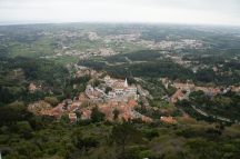 view of Sintra from the Moorish Castle!