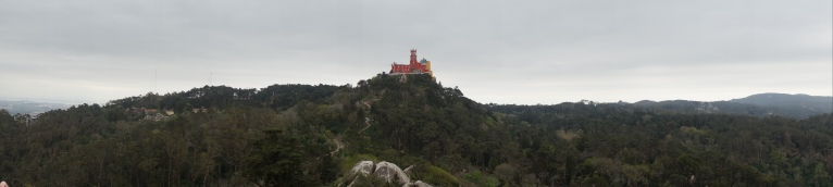 From the Moorish Castle, we could see Palacio da Pena