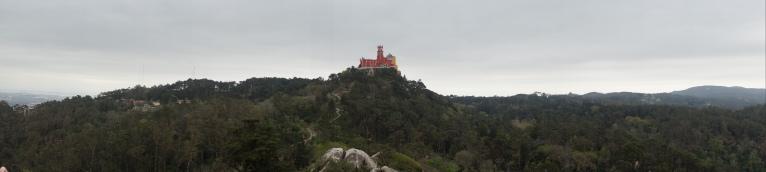 From the Moorish Castle, we could see Palacio da Pena