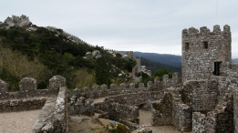 The Moorish Castle is super old and sits atop a hill
