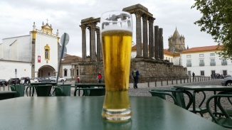 drinking in front of the Temple of Diana