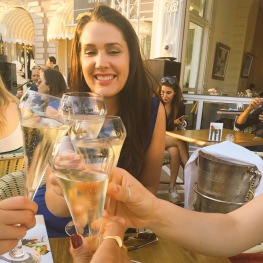 ... but I'm excited because we're drinking Ruinart Blanc de Blancs
