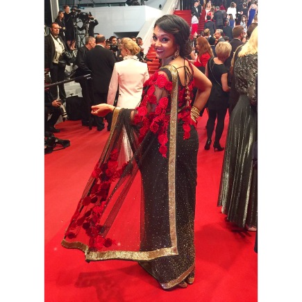 Komal on the red carpet!