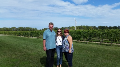 with my parents at Ridgepoint Wines