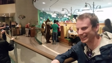 we spotted Chip and Dale in a restaurant